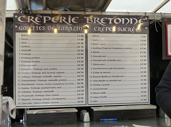 crêperie bretonne du marché d'Iéna