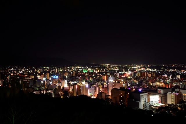 松山の夜景