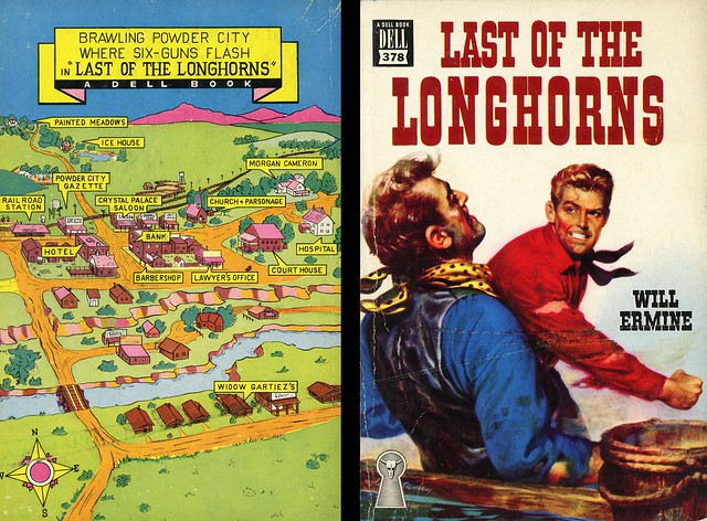 Dell Books 378 - Will Ermine - Last of the Longhorns (with mapback)