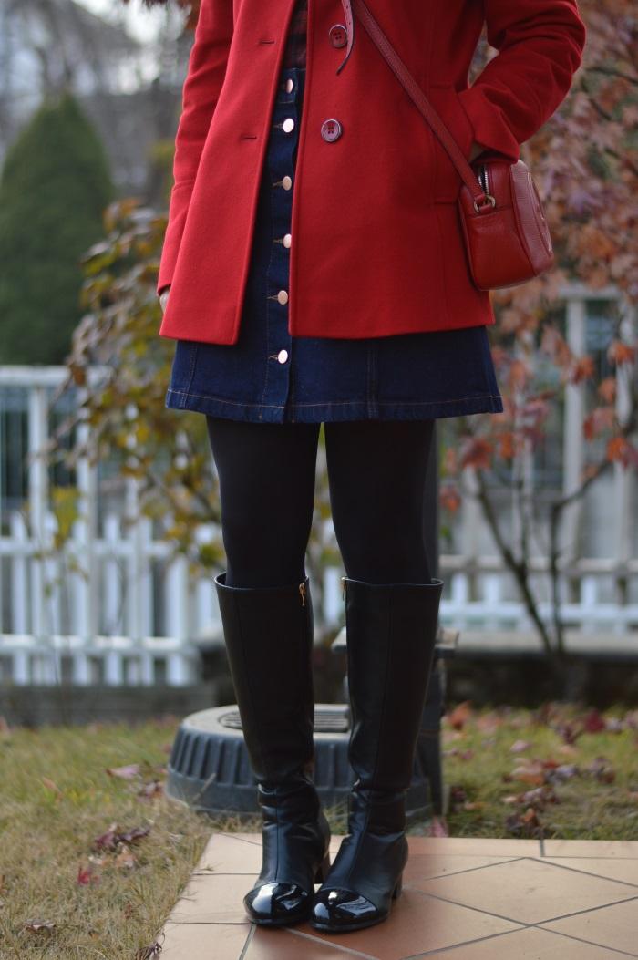 seventies, cappotto rosso, anni 70, HM, wildflower girl (5)