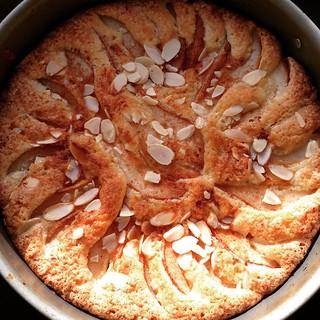 Bake of the week: Pear Almond Torte.  #beautifulfood #cakeeveryday #freshlybaked