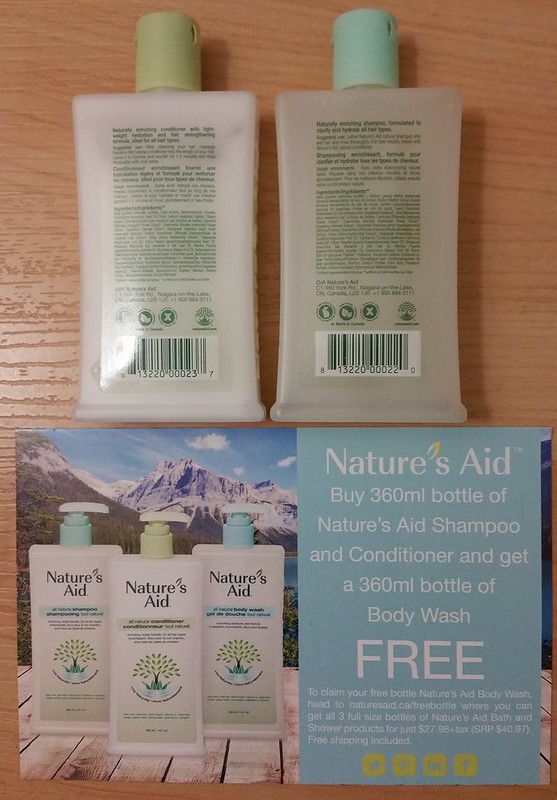 Nature's Aid shampoo back