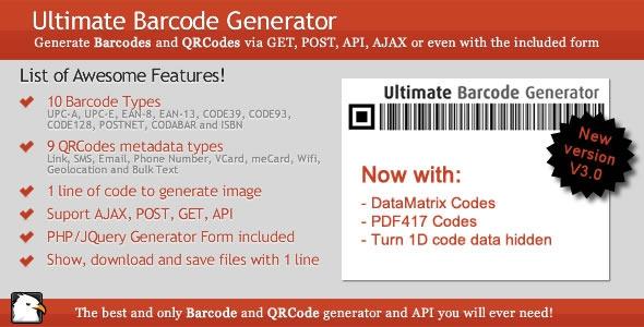 CodeCanyon Ultimate Barcode Generator v3.0