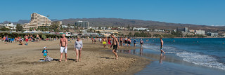 Image of Playa del Inglés near Playa del Ingles. del spain january playa gran ingles canaria 2016