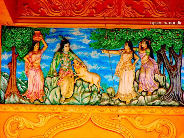 Beautiful Wall Paint of Shri Krishna Katha