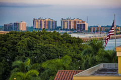 The skyline of North Fort Myers, Florida, U.S.A.