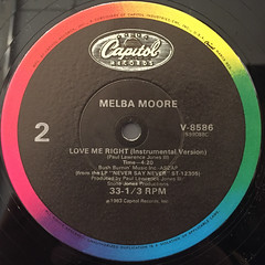 MELBA MOORE:LOVE ME RIGHT(LABEL SIDE-B)