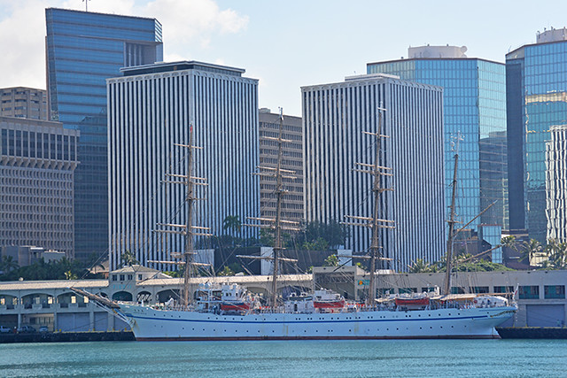 Nippon Maru downtown buildings