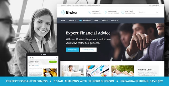 Broker v1.1.0 - Business and Finance WordPress Theme