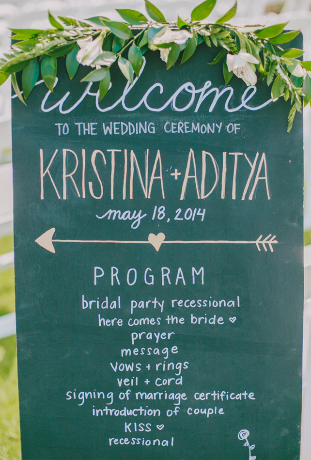 Wedding ceremony program for Garden Chic wedding in Ontario The bride wears #BHLDN wedding dress   Photography: Fern Shin Photography   Read more on Fab Mood - UK wedding Blog #gardenwedding