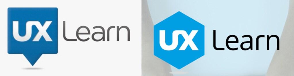 Logo antiguo y logo nuevo de UX Learn