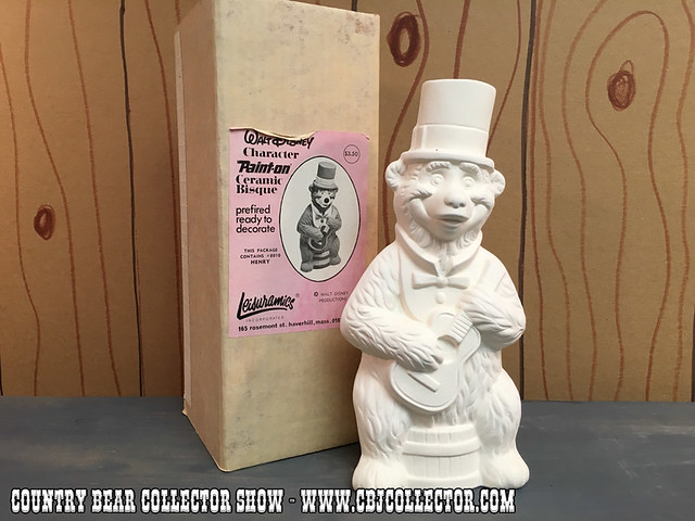 1970s Walt Disney Leisuramics Henry Ceramic Bisque - Country Bear Collector Show #031
