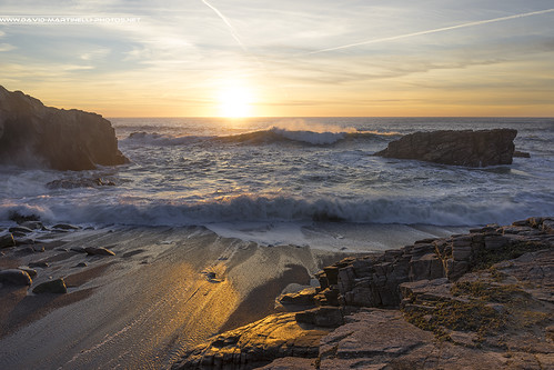 Sunset et embruns