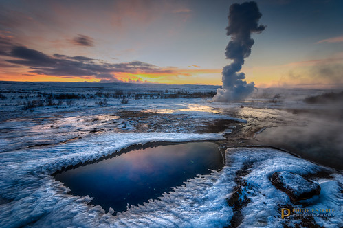 winter snow clouds sunrise dawn landscapes is iceland rocks skies scenic geology geyser skyscapes geothermal geysir strokkur hdr naturephotography landscapephotography vulcanology suðerland pentaxk3 fingolfinphoto philipesterle