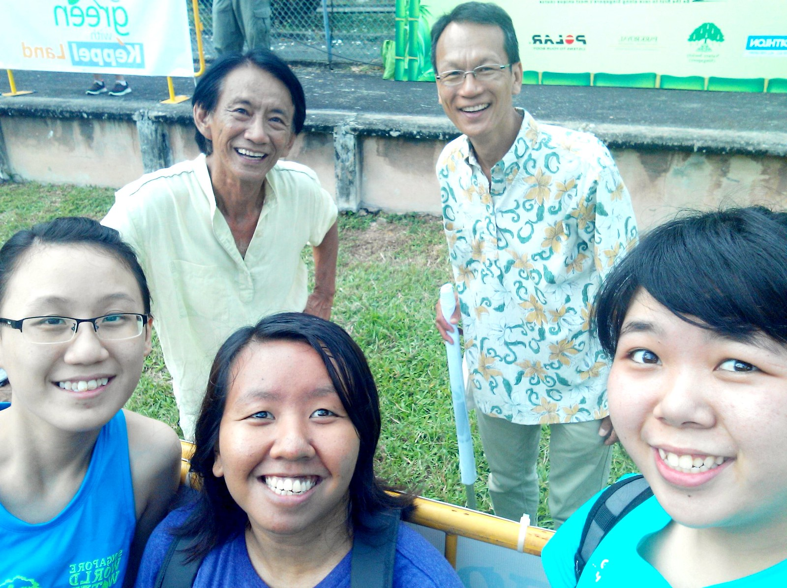 Wefie with Gracie and Cheryl and Kwok Peng and Shawn