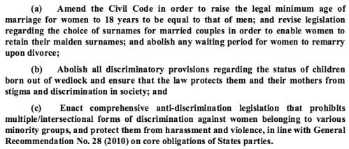 Discriminatory laws and lack of legal protection (2/2)