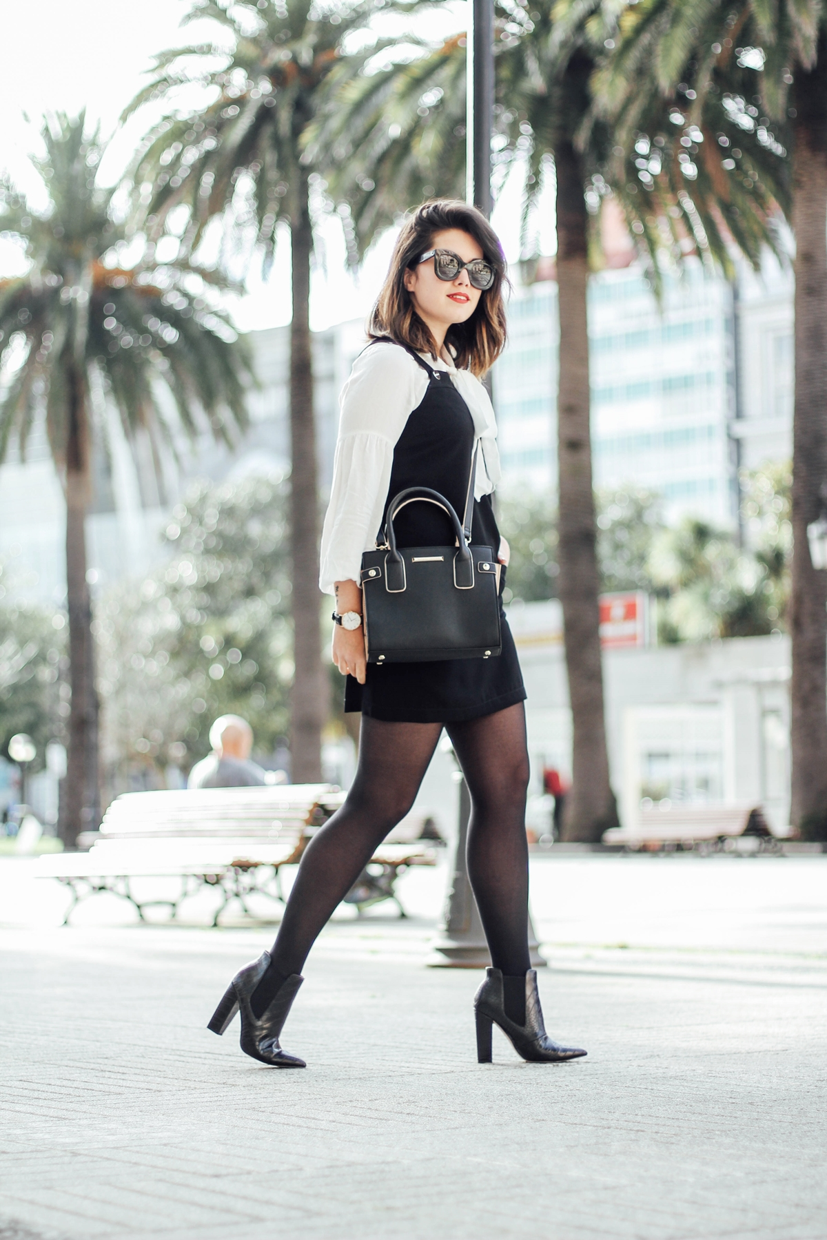 styleheroes-dorothy-perkins-pinafore-dress-cocodrile-booties-baby-marta-celine-sunglasses-streetstyle