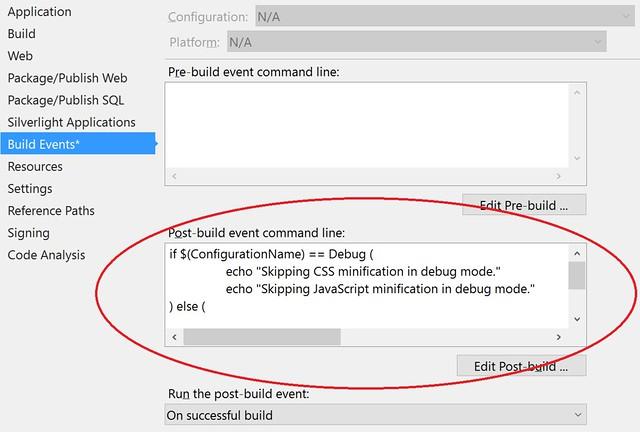 aspnet-mvc-5-post-build-event-command-line