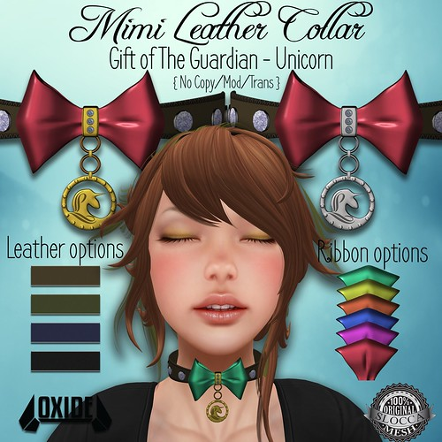 OXIDE Mimi Leather Collar - Gift of The Guardians