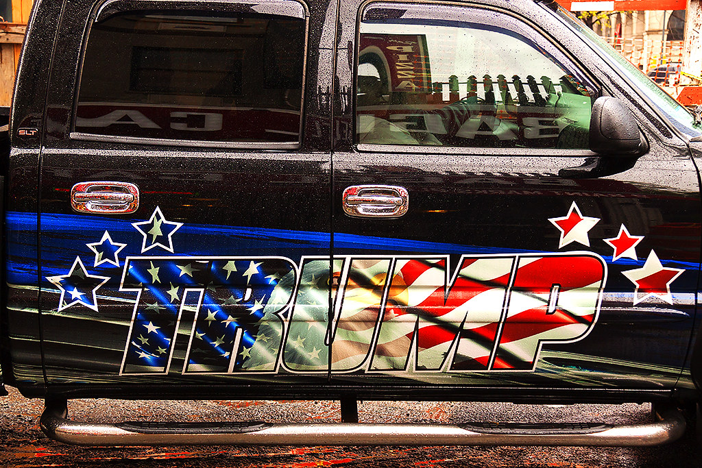 TRUMP on truck--New York