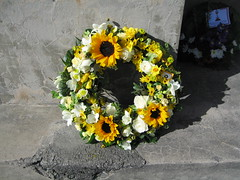 Yellow wreath, Hornby Primary School War Memorial