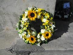 Yellow wreath, Hornby Primary School War Memorial