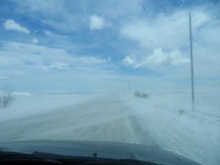 The snowy road to Halidzor