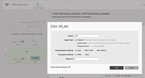 WLAN configuration screen