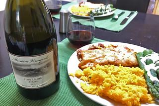 Merriam Vineyards - 2013 Estate Pinor Noir dinner