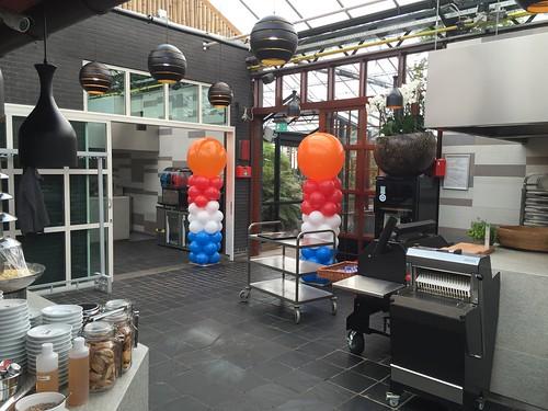 Ballonpilaar Breed Rond Koningsdag Watertuin Naaldwijk