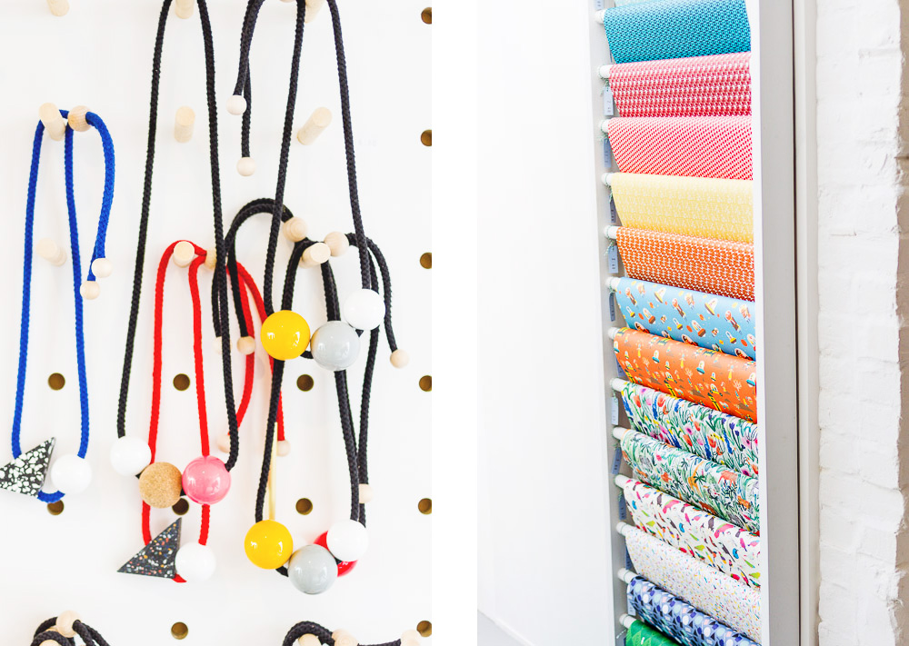 frank stationery gift shop whitstable necklaces hanging colourful wrapping paper