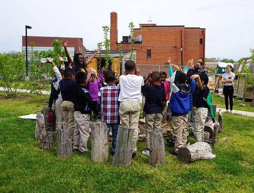 Students participate in a Food Corps lesson