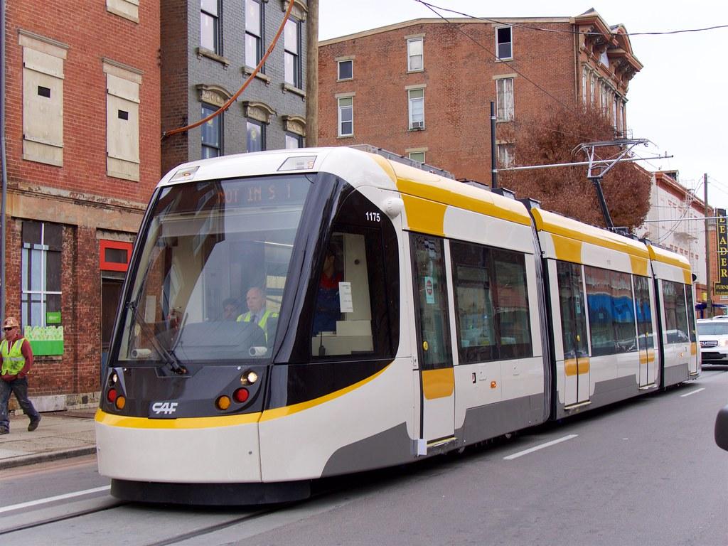 Cincinnati Streetcar Testing