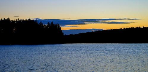sunset summer sky cloud lake water clouds forest finland landscape evening pentax lakescape kivijärvi luumäki sakarip