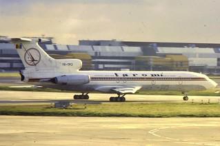 Tarom Tu-154 YR-TPJ at LHR