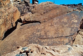 Petroglyphen in Twyfelfountain, Damaraland