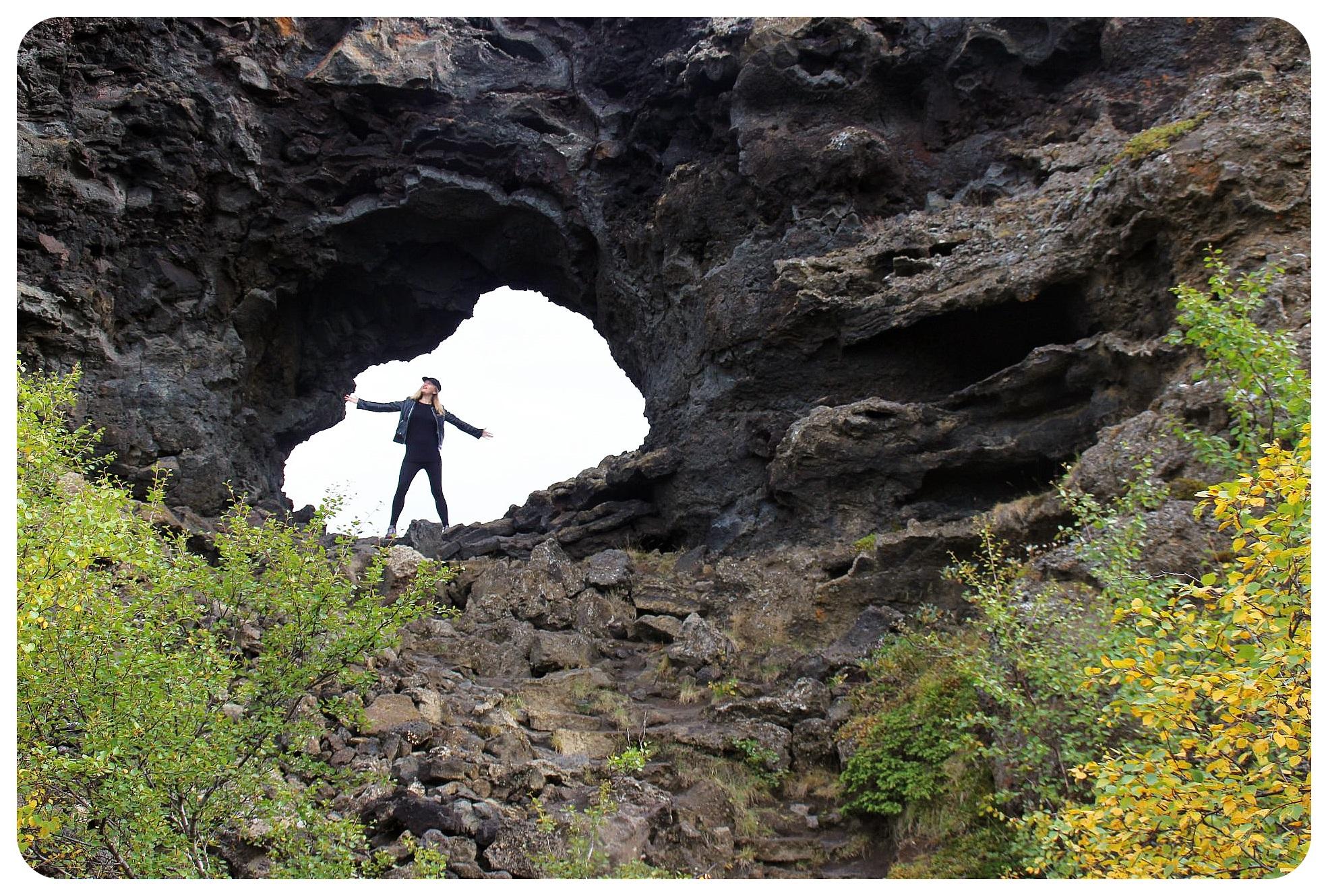 dimmuborgir iceland volcanic rocks dani