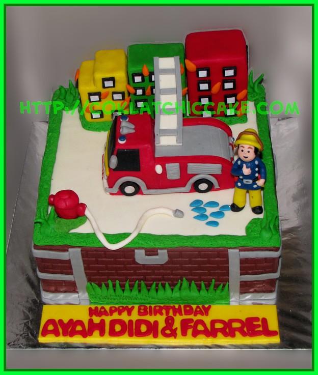 Cake Pemadam Kebakaran