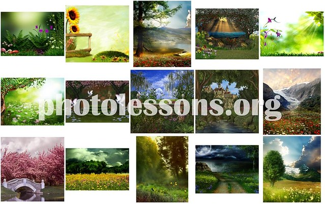 Nature pictures for collages in Photoshop