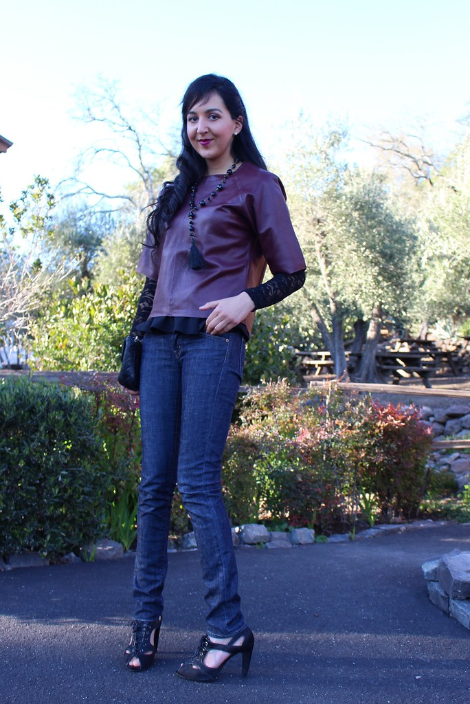Layering with Peplum and Leather 3