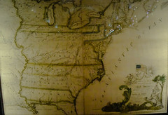 Colonial US Map at US Library of Congress Thomas Jefferson Building - Washington DC