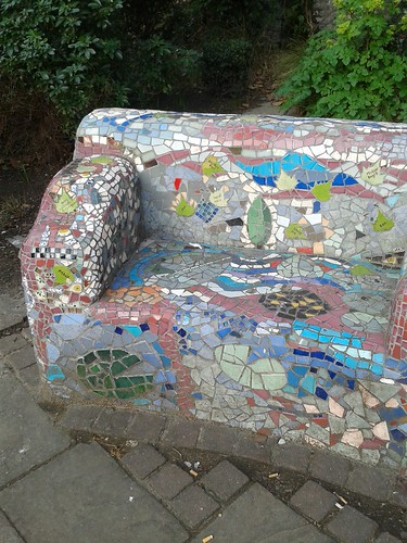 Mosaics in the Churchyard Across From Waterloo Station