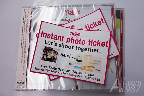 notall CD with instant photo tickets