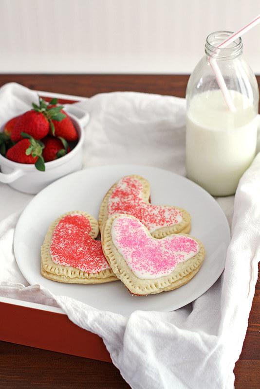 Heart-Shaped Strawberry Pop Tarts | girlversusdough.com @girlversusdough