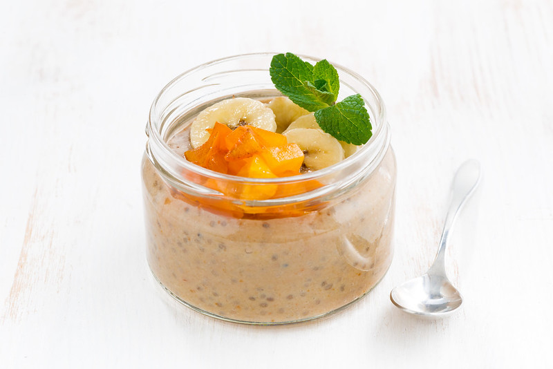 fruit pudding with chia seeds