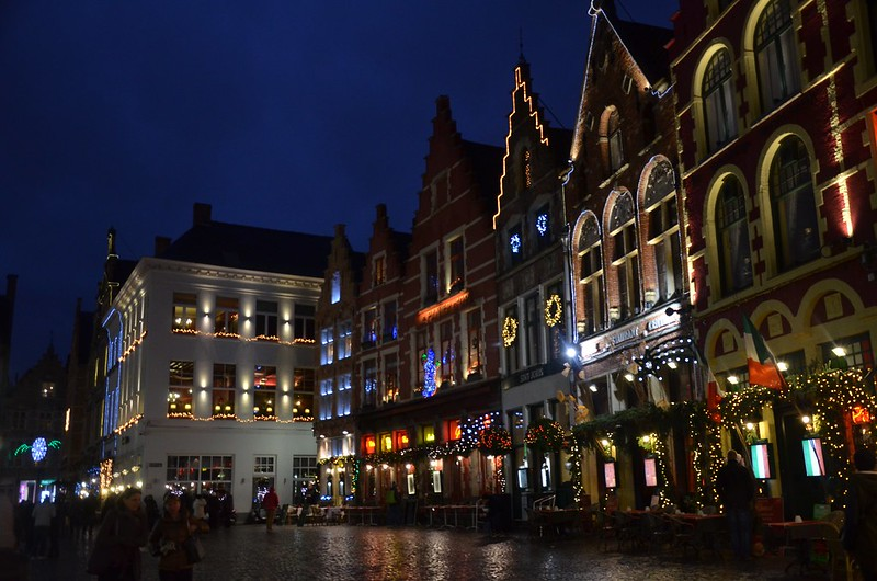 beautifully decorated centre of Bruges