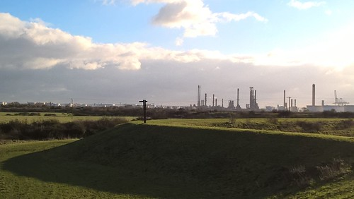 Coryton Refinery/Oil Terminal/Deepwater Seaport from East Haven Creek, Canvey Island