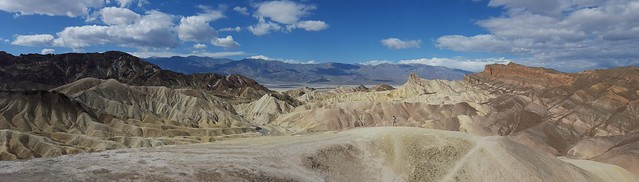 The rugged mountains in Death Valley