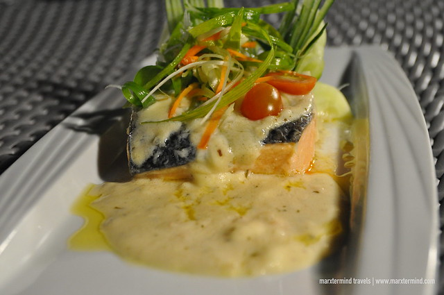 Salmon Dinner at Ferra Hotel Boracay