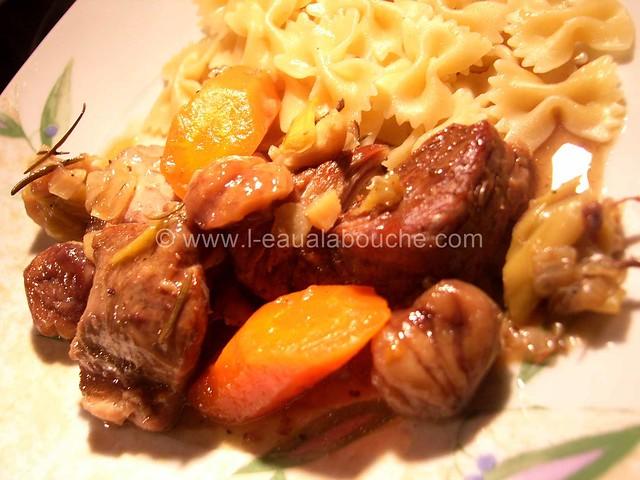 Veau Braisé Au Jurançon Légumes & Chataignes © Ana Luthi Tous droits réservés 11